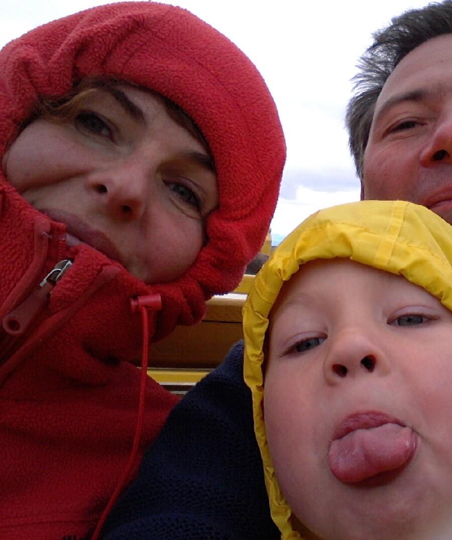 Gekke gezinsfoto