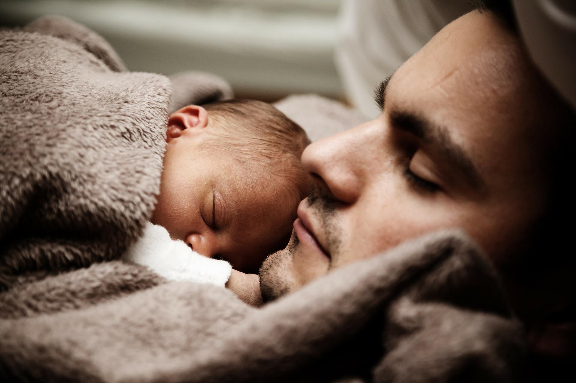 Vader met baby