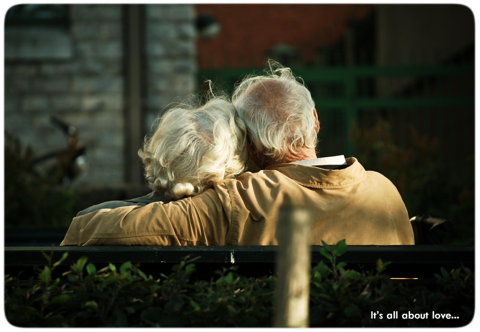 Bejaard stel, liefde